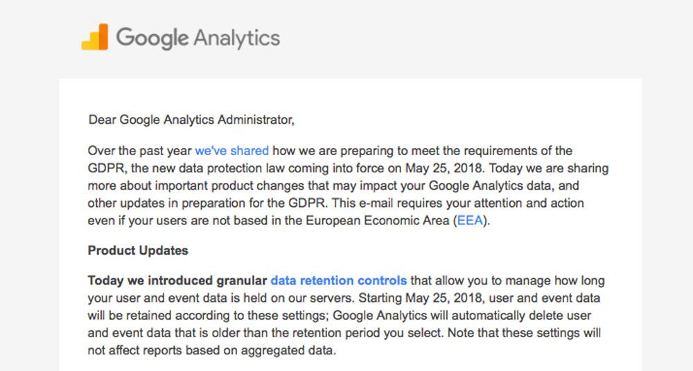 グーグルアナリティクスデータ消滅