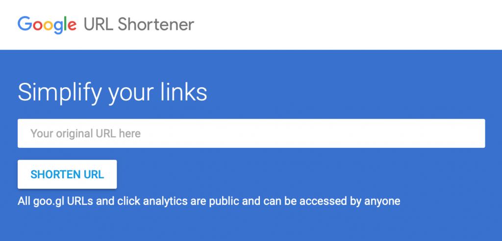短縮URLサービス「goo.gl」